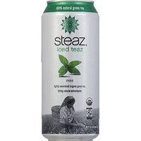 Steaz Iced Teaz Mint, 100% Natural Green Tea, 16 fl oz, (Pack of 12)