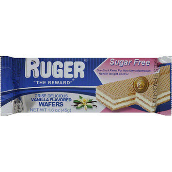Ruger Sugar Free Vanilla Flavored Wafers, 1.6 oz, (Pack of 12)
