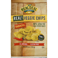 Real Deal Memorabilia The Real Deal All Natural Snacks Sriracha Real! Veggie Chips, 6 oz, (pack of 12)