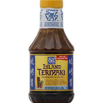 Soy Vay Island Teriyaki Marinade & Sauce, 20 oz, (Pack of 6)