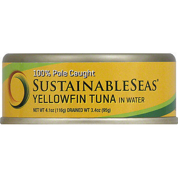 Sustainable Seas Yellowfin Tuna in Water, 4.1 oz, (Pack of 12)