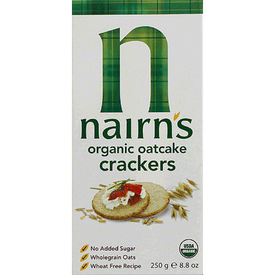 Nairns Nairn's Organic Oatcake Crackers, 8.8 oz, (Pack of 12)