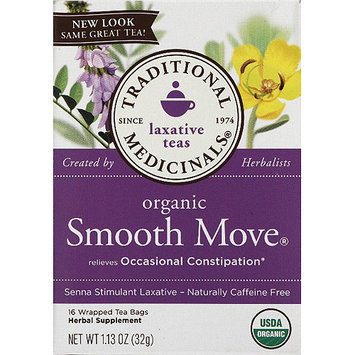 Traditional Medicinals Organic Smooth Move Laxative Tea, 1.13 oz, (Pack of 6)