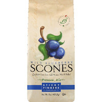 Sticky Fingers Bakeries Wild Blueberry Scones Premium Mix, 15 oz, (Pack of 6)