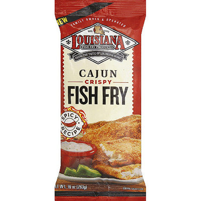 Louisiana Fish Fry Products Cajun Crispy Fish Fry, 10 oz, (Pack of 12)