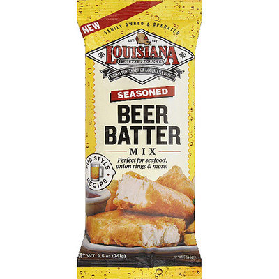 Louisiana Fish Fry Products Seasoned Beer Batter Mix, 8.5 oz, (Pack of 12)