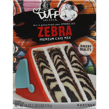 Duff Decorating Duff Goldman Zebra Premium Cake Mix, 18 oz, (Pack of 12)