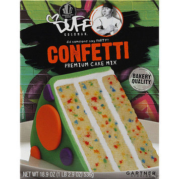 Duff Decorating Duff Goldman Confetti Premium Cake Mix, 18.9 oz, (Pack of 12)