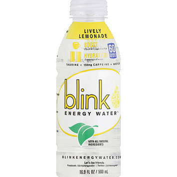 Blinky Blink Lively Lemonade Energy Water, 16.9 fl oz (Pack of 12)