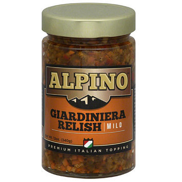 Alpino Brand Alpino Mild Giardiniera Relish, 12 oz, (Pack of 6)