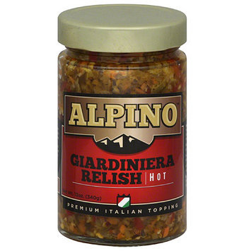 Alpino Brand Alpino Hot Giardiniera Relish, 12 oz, (Pack of 6)