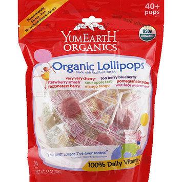 Yummyearth YumEarth Organics Organic Lollipops, 8.5 oz, (Pack of 12)