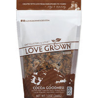 Love Grown Foods Cocoa Goodness Oat Clusters & Love, 12 oz, (Pack of 6)
