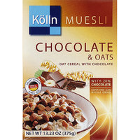 Kolln Muesli Chocolate & Oats Cereal, 13.23 oz, (Pack of 7)