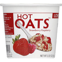 Love Grown Foods Strawberry Raspberry Hot Oats, 2.22 oz, (Pack of 8)