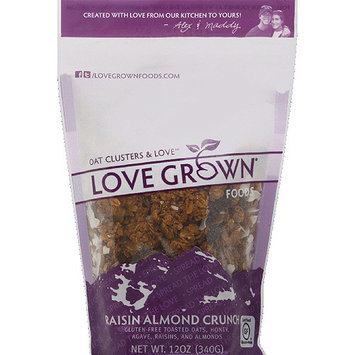 Love Grown Foods Raisin Almond Crunch Oat Clusters & Love, 12 oz, (Pack of 6)