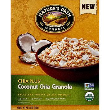 Nature's Path Organic Chia Plus Coconut Chia Granola, 12.34 oz, (Pack of 6)