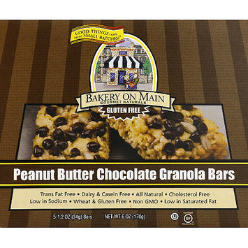 Bakery on Main Gourmet Naturals Peanut Butter Chocolate Granola Bars, 1.2 oz, 5 count, (Pack of 6)