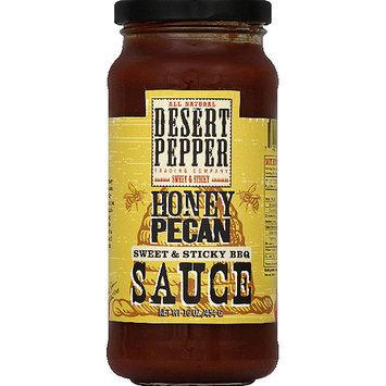 Desert Pepper Honey Pecan Sweet & Sticky BBQ Sauce, 16 oz, (Pack of 6)