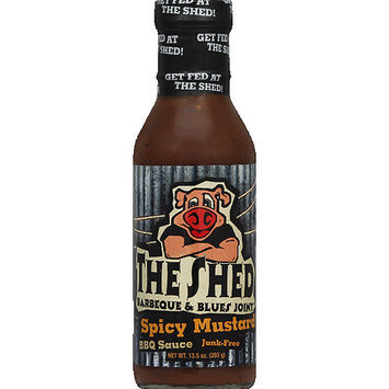 The Shed Bbq The Shed Barbeque & Blues Joint Spicy Mustard BBQ Sauce, 13.5 oz, (Pack of 6)