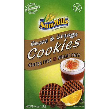 Sam Mills Cocoa & Orange Cookies, 4.4 oz, (Pack of 7)