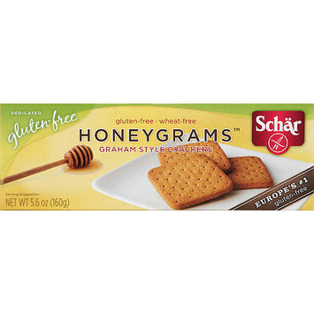 Schar Honeygrams Gluten-Free Graham Style Crackers, 5.6 oz, (Pack of 12)
