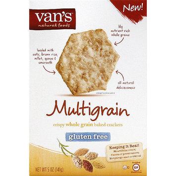 Vans Van's Multigrain Crispy Whole Grain Baked Crackers, 5 oz, (Pack of 6)
