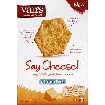 Vans Van's Say Cheese! Crispy Whole Grain Baked Crackers, 5 oz, (Pack of 6)