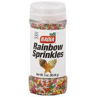 Badia Rainbow Sprinkles, 3 oz, (Pack of 12)