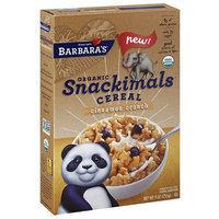 Barbaras Barbara's Organic Snackimals Cinnamon Crunch Cereal, 9 oz, (Pack of 12)