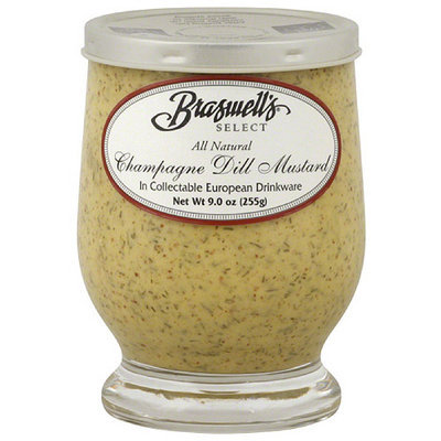 Braswell's Select Champagne Dill Mustard, 9 oz, (Pack of 6)