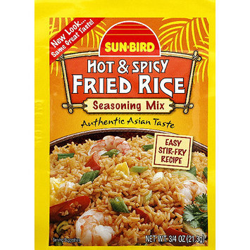 Sunbird Sun-Bird Hot & Spicy Fried Rice Seasoning Mix, 0.75 oz, (Pack of 24)