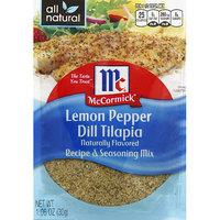 Golden Dipt McCormick Lemon Pepper Dill Tilapia Recipe & Seasoning Mix, 1.06 oz, (Pack of 6)