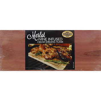 The BBQ Chef Merlot Wine Infused Cedar Grilling Plank, (Pack of 24)