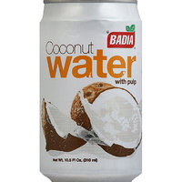 Badia Coconut Water with Pulp, 10.5 fl oz, (Pack of 24)