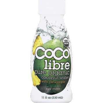 Coco Libre Pure Organic Coconut Water with Pineapple, 11 fl oz, (Pack of 12)