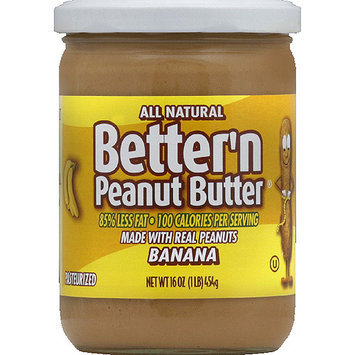Better N Peanut Butter Better'n Peanut Butter Banana Spread, 16 oz, (Pack of 6)