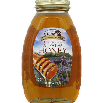 Harmony Farms Alfalfa Honey, 16 oz, (Pack of 6)