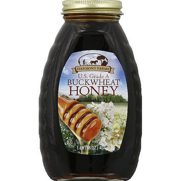 Harmony Farms Buckwheat Honey, 16 oz, (Pack of 6)