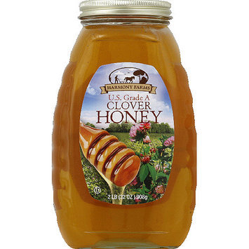 Harmony Farms Clover Honey, 32 oz, (Pack of 6)