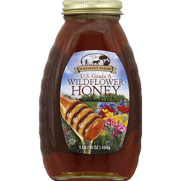 Harmony Farms Wildflower Honey, 16 oz, (Pack of 6)