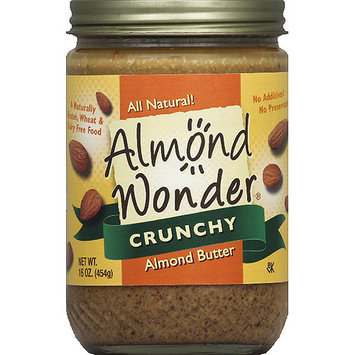 Almond Wonder Crunchy Almond Butter, 16 oz, (Pack of 12)