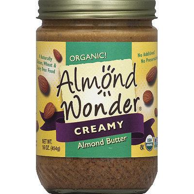 Almond Wonder Organic Creamy Almond Butter, 16 oz, (Pack of 12)