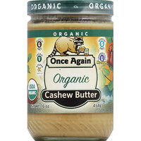 Once Again Organic Cashew Butter, 16 oz, (Pack of 6)
