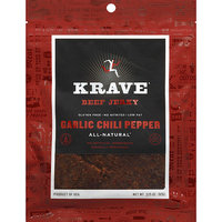 Krave Garlic Chili Pepper Beef Jerky, 1.5 oz, 18 Pack