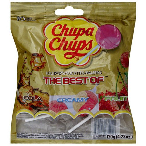 Chupa Chups The Best of Lollipops, 4.23 oz, (Pack of 12)