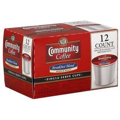 Community Coffee Medium Roast Breakfast Blend Single-Serve Cups, 12 count, (Pack of 6)