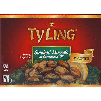 Ty Ling Smoked Mussels in Cottonseed Oil, 3.66 oz, (Pack of 10)