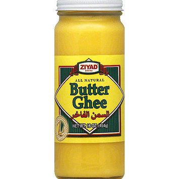Ziyad Brand Butter Ghee, 16 oz, (Pack of 6)