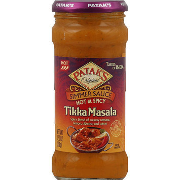 Patak's Original Hot & Spicy Tikka Masala Simmer Sauce, 12.3 oz, (Pack of 6)